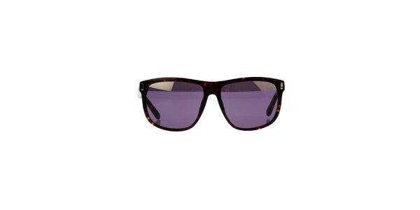 Unisex žíhané slnečné okuliare Marc Jacobs s fialovými sklíčkami