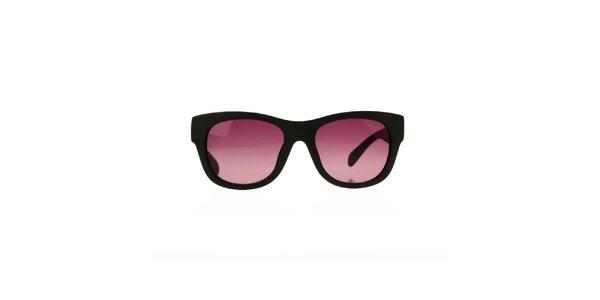 Dámske khaki slnečné okuliare so vzorovanými stranicami Marc Jacobs