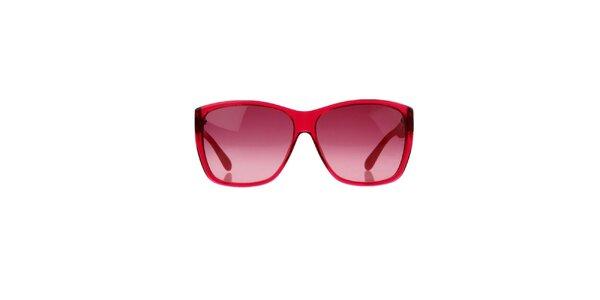 Unisex malinové okuliare s pruhovanými stranicami Marc Jacobs