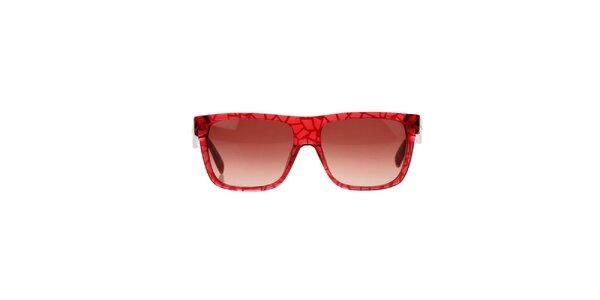 Dámske červené slnečné okuliare so vzorom Marc Jacobs