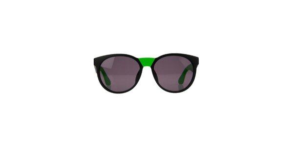 Unisex zelené okuliare s neónovými detailmi Marc Jacobs