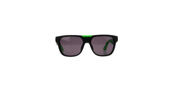 Unisex čierno-zelené slnečné okuliare Marc Jacobs