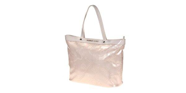 Dámska lesklá ružovkastá kabelka Versace Jeans
