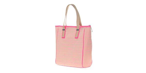 Dámska svetlo ružová obdĺžniková kabelka Versace Jeans