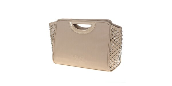Dámska béžová kabelka s cvočkami Versace Jeans
