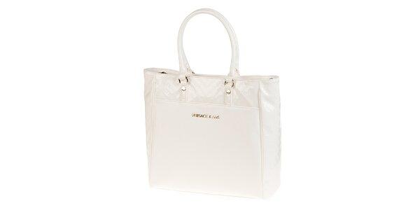 Dámska biela nákupná kabelka Versace Jeans