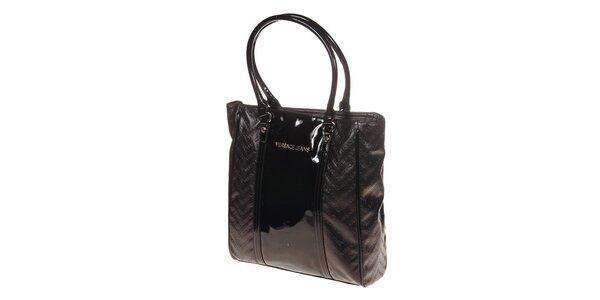 Dámska tmavo hnedá kabelka Versace Jeans