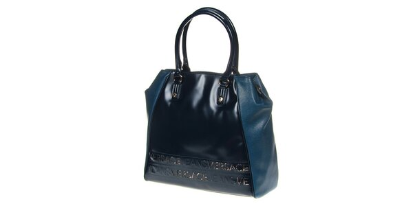 Dámska modrá kabelka s dvomi ušami Versace Jeans