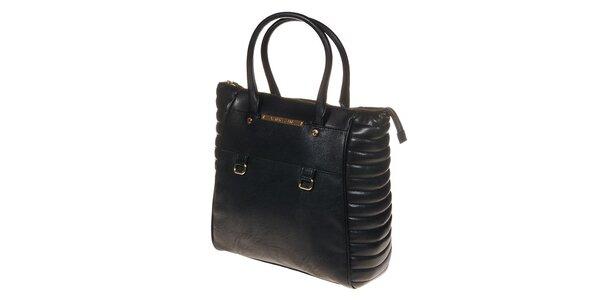 Dámska čierna kabelka s ozdobnými bočnými dielami Versace Jeans