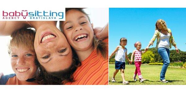 15,60 Eur za starostlivosť o vaše dieťa na 4 hodiny so zľavou 40%!