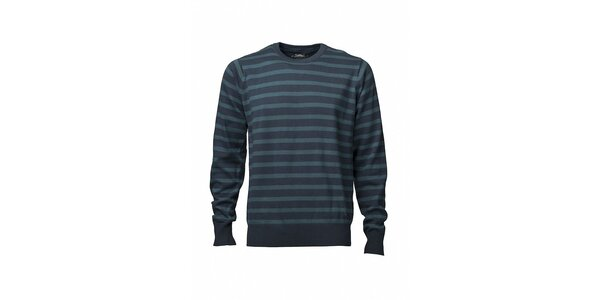 Pánsky modrý prúžkovaný sveter Fundango