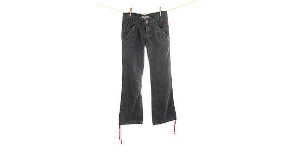Dámske zelenkavé voľné nohavice s potlačou Fundango