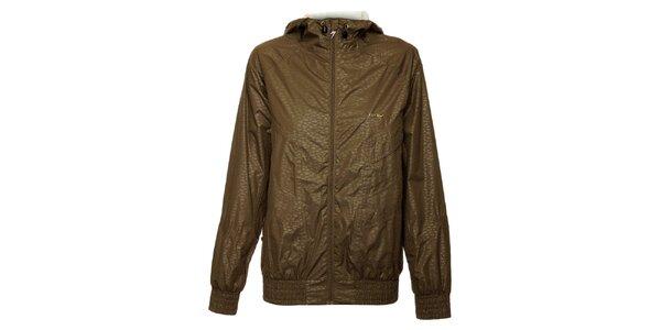 Dámska šedá funkčná bunda s kapucňou Fundango