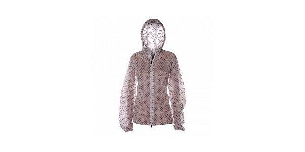 Dámska biela bundička s kapucňou Nike