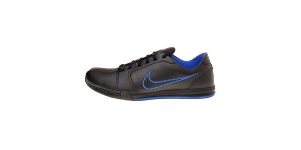 Pánske čierne tenisky Nike Circuit s modrými detailami