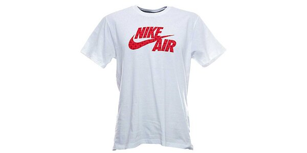 Pánske biele tričko s červenou potlačou Nike