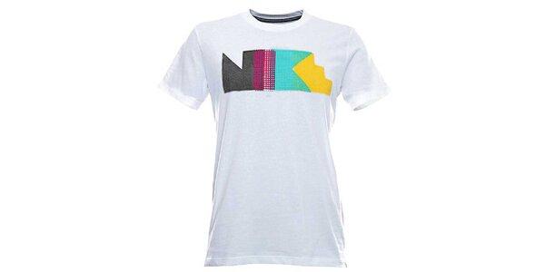 Pánske biele tričko s farebnou potlačou Nike