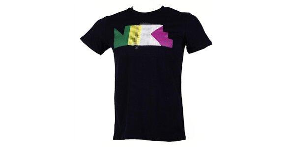 Pánske čierne tričko s krátkym rukávom Nike