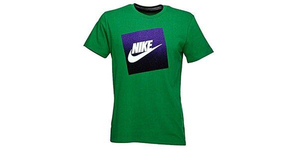 Pánske zelené tričko s potlačou Nike
