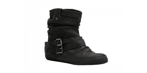 Dámske čierne kotníkové topánky Red Hot
