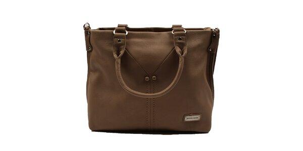 Dámska hnedá kabelka Pierre Cardin