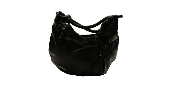Dámska čierna asymetrická kabelka Pierre Cardin