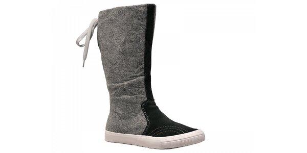 Dámske šedo-čierne zimné topánky Red Hot
