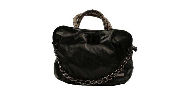 Dámska čierna kabelka s reťazou Pierre Cardin