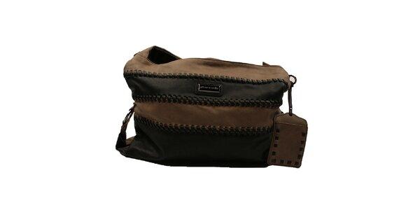 Dámska pruhovaná kabelka s širokým popruhom Pierre Cardin