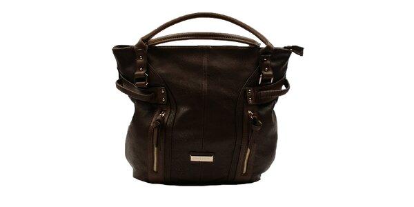 Dámska tmavo hnedá kabelka Pierre Cardin