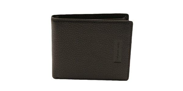 Pánska čierna reliéfna kožená peňaženka Pierre Cardin