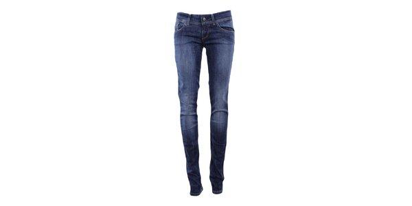 Dámske džínsy so šisovaním v tmavo modrej farbe Big Star