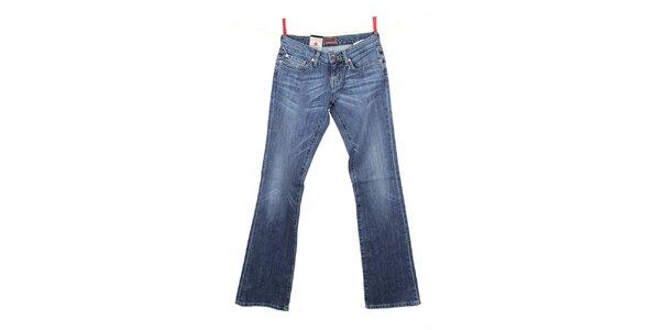 Dámske modré džínsy so svetlejšími kolenami Big Star