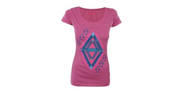 Dámske ružové tričko s potlačou Big Star