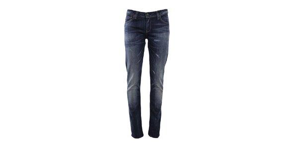Dámske modré džínsy s drobnými odreninami Big Star