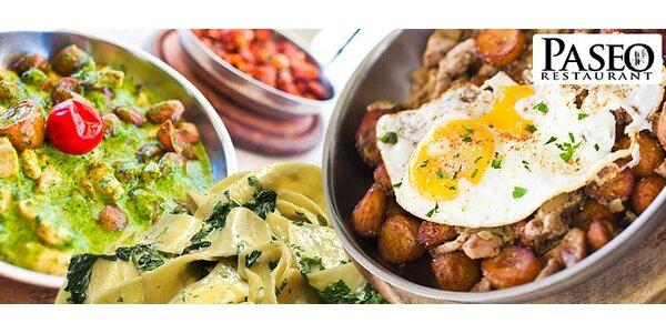 40 % zľava na všetky jedlá v Paseo restaurant