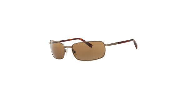Dámske hnedé hranaté slnečné okuliare Michael Kors