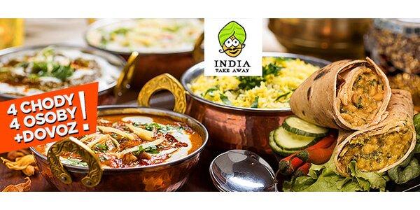 Indické menu pre 2 alebo 4 osoby s donáškou