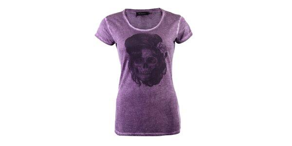 Dámske fialové tričko Ron Abraham s Amy