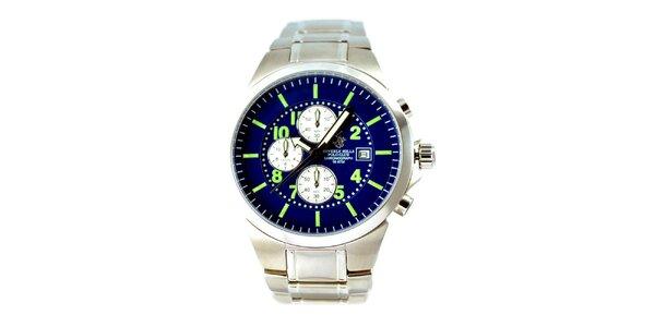 Pánske hodinky s modrým ciferníkom Beverly Hills Polo Club