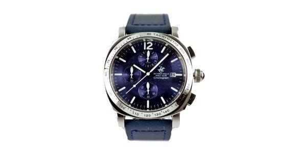 Pánske hodinky s fialovým ciferníkom Beverly Hills Polo Club