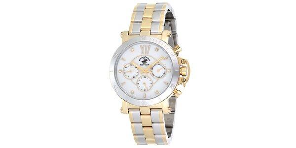 Dámske strieborné hodinky so svetlým ciferníkom Beverly Hills Polo Club