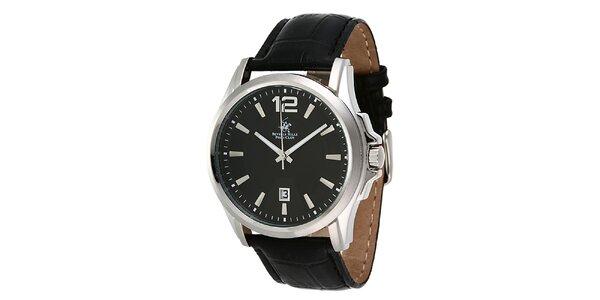 Pánske hodinky s čiernym ciferníkom Beverly Hills Polo Club