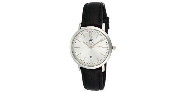 Dámske hodinky s čiernym remienkom Beverly Hills Polo Club