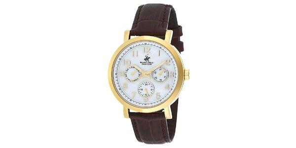 Dámske zlaté hodinky s minútovým ciferníkom Beverly Hills Polo Club