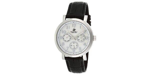 Dámske strieborné hodinky s minútovým ciferníkom Beverly Hills Polo Club