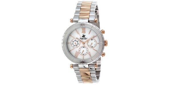 Dámske dvojfarebné hodinky Beverly Hills Polo Club