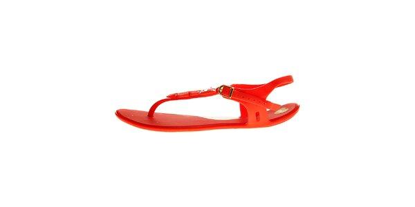 Dámske červené sandálky Mel so sovičkou