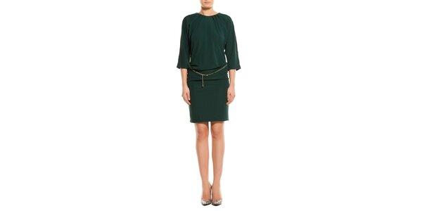Dámske tmavo zelené šaty TopShop