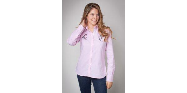 Dámska ružová košeľa Valecuatro s jemným prúžkom